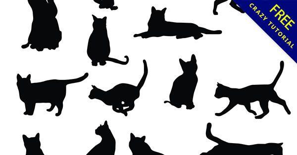 【貓咪剪影】剪影推薦:7套黑色的貓咪剪影圖下載