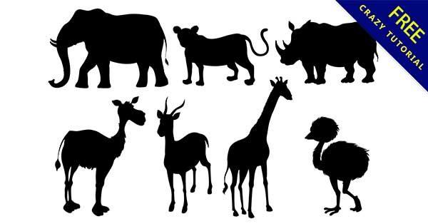 【動物剪影】剪影推薦:45張黑色的動物剪影圖下載
