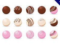 【卡通巧克力】素材推薦:24套可愛的卡通巧克力圖下載