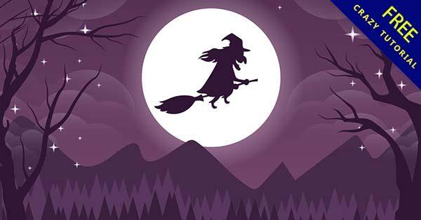 【卡通巫婆】素材推薦:19款精緻的卡通巫婆圖下載