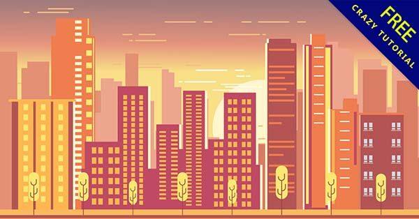 【城市插畫】插畫推薦:28款手繪的城市插畫圖下載