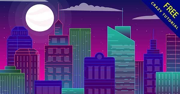 【城市背景】背景推薦:27套卡通的城市背景圖下載