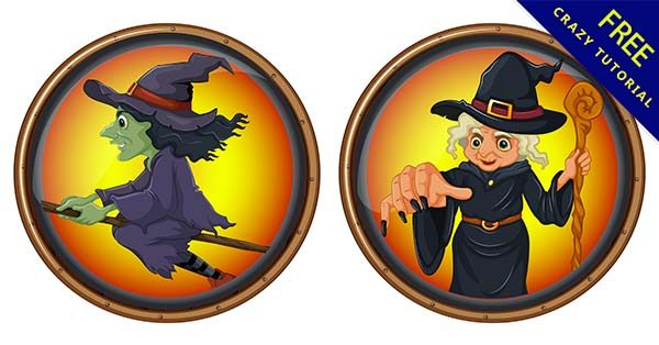 【女巫卡通】素材推薦:25張可愛的女巫卡通圖下載