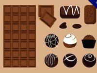【巧克力卡通】素材推薦:28套好吃的巧克力卡通圖下載