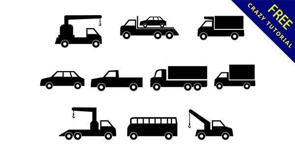 【汽車剪影】剪影推薦:20套可愛的汽車剪影圖下載