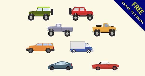 【汽車素材】素材推薦:32張卡通的汽車素材圖下載
