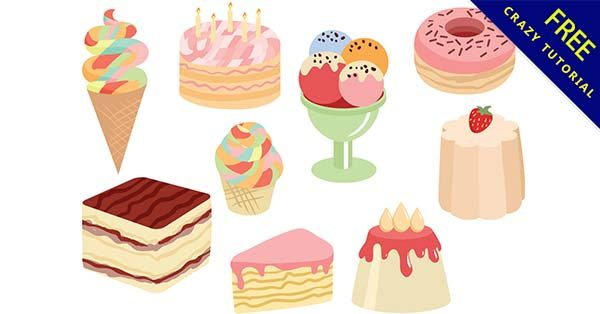 【甜點插畫】插畫推薦:30張可愛的甜點插畫圖下載
