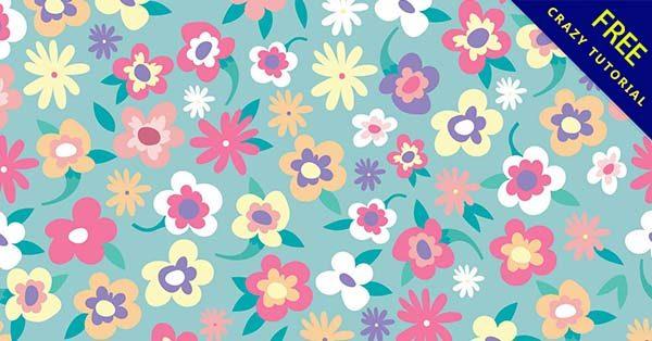 【花圖案】圖案推薦:38套可愛的花圖案素材下載