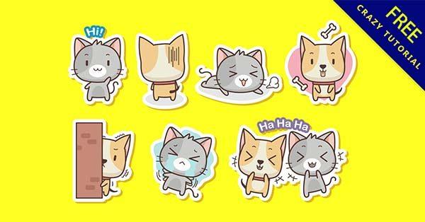 【貓咪圖案】圖案推薦:25款可愛的貓咪圖案素材下載