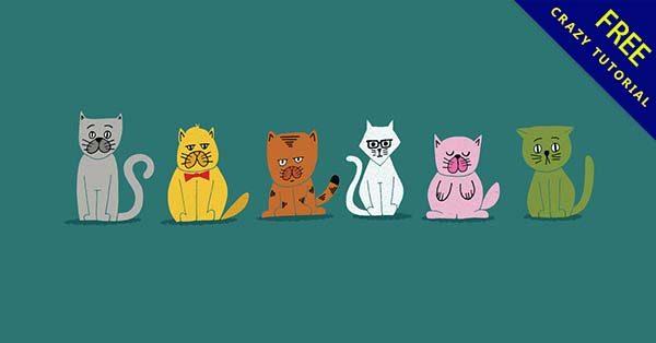 【貓咪插圖】插圖推薦:41款可愛的貓咪插圖素材下載