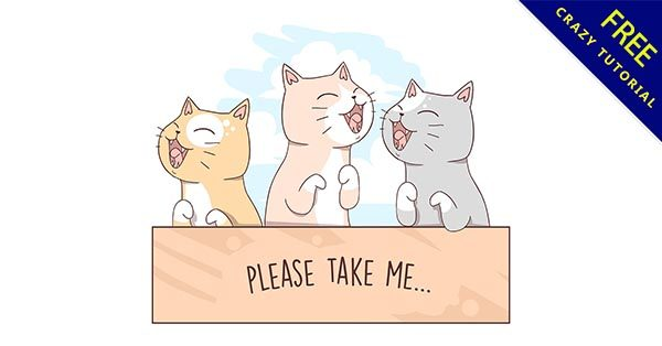 【貓咪q版】q版推薦:37套超可愛的貓咪q版圖下載