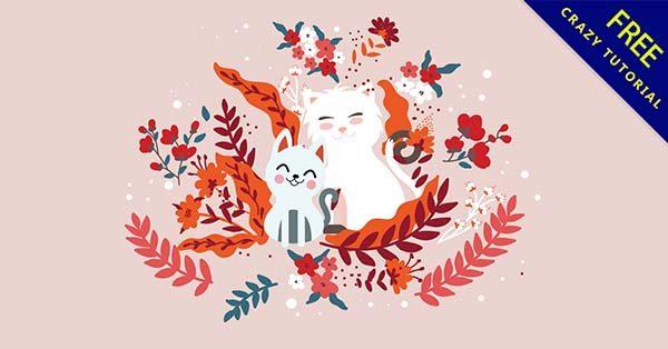 【貓圖案】圖案推薦:24套可愛的貓圖案素材下載