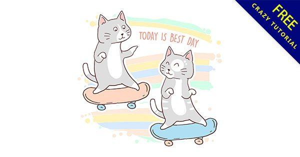 【貓插圖】插圖推薦:19張細緻的卡通貓插圖下載