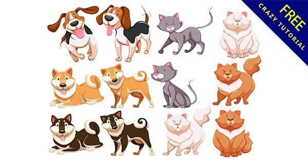【動物插畫】素材推薦:37套可愛的動物插畫素材下載