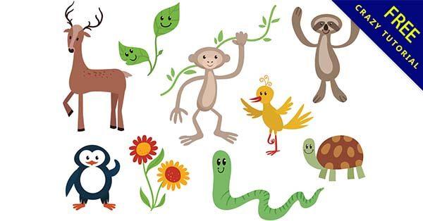 【卡通動物】圖案推薦:54款可愛的卡通動物圖下載