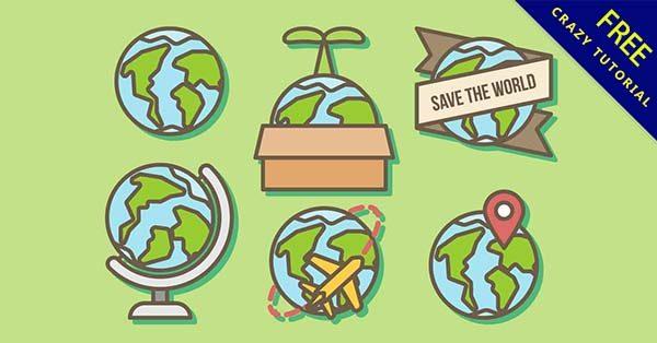 【卡通地球】圖案推薦:43套可愛的卡通地球圖下載