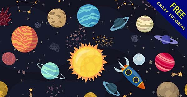 【星球背景】背景推薦:27套可愛的星球背景圖下載