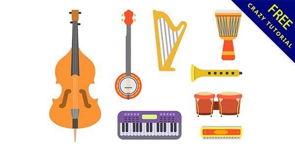 【樂器圖案】圖案推薦:33款可愛的樂器圖案素材下載