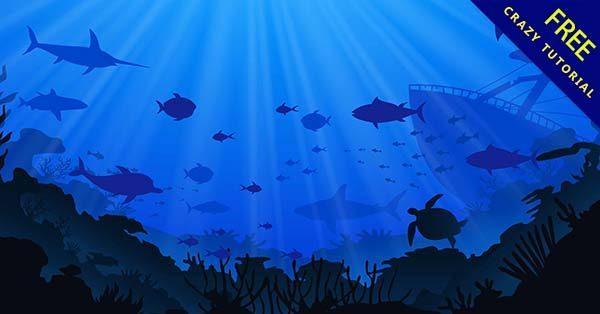 【海洋卡通】素材推薦:26張可愛的海洋卡通圖下載