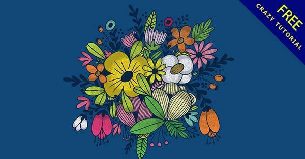 【花朵卡通】素材推薦:42張可愛的花朵卡通圖下載
