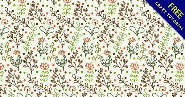 【花紋素材】素材推薦:43套可愛的花紋素材圖下載