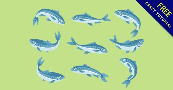 【q版魚】素材推薦:36張可愛的q版魚圖案下載