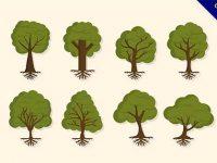【卡通樹】圖案推薦:56個可愛的卡通樹圖案下載
