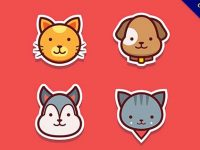 【寵物素材】素材推薦:35套可愛的寵物素材圖下載