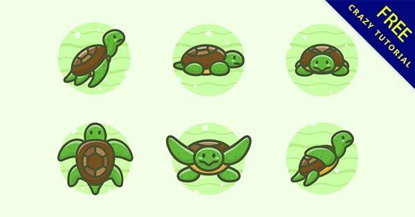 【烏龜卡通】卡通圖推薦:26個可愛的烏龜卡通圖下載