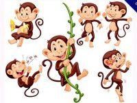 【猴子卡通】卡通圖推薦:35款可愛的猴子卡通圖下載