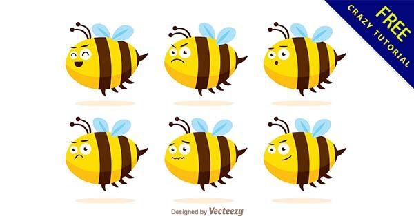 【蜜蜂q版】圖案推薦:41張可愛的蜜蜂q版圖下載