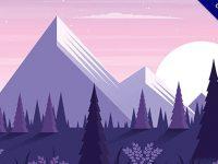 【卡通風景】風景推薦:61套可愛的卡通風景圖下載