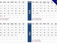 17款免費的2022年月曆製作模板下載,可直接7-11列印出來使用